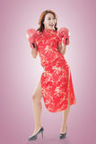 Fighting Chinese woman Royalty Free Stock Photo