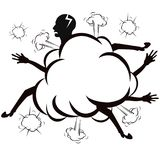 The fighting cloud ,comic style ,vector Royalty Free Stock Images