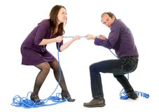 Fighting couple Royalty Free Stock Image