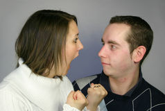 Fighting couple Stock Photography
