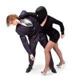 Fighting couple Stock Photos