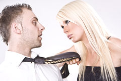 Fighting couple Royalty Free Stock Images