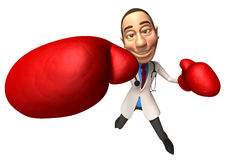 Fighting doctor Stock Photography