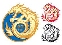 Fighting the dragon. Abstract symbol. Fighting the dragon Royalty Free Stock Photos