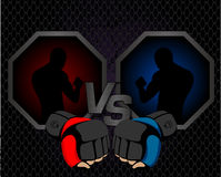 Fighting event poster. Fighting versus winner event poster Stock Photography