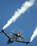 Fighting Falcon. F16 Jet Fighter during mission of combat royalty free stock image