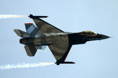 Fighting Falcon. F16 Jet Fighter during mission of combat Royalty Free Stock Photography
