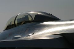 Fighting falcon F-16 artistic shot Stock Photography