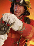 Fighting the fire. Royalty Free Stock Photo