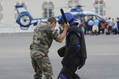 Fighting gendarmes Royalty Free Stock Photos