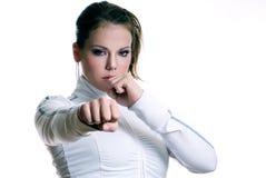 Fighting girl Stock Photos