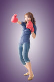Fighting girl concept Royalty Free Stock Images