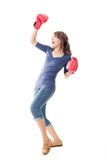 Fighting girl concept Stock Image
