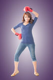 Fighting girl concept Stock Photography