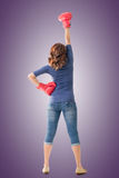 Fighting girl concept Royalty Free Stock Photo