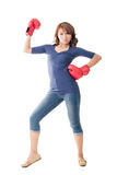 Fighting girl concept Stock Photo