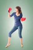 Fighting girl concept Royalty Free Stock Photos