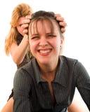 Fighting girls Stock Image