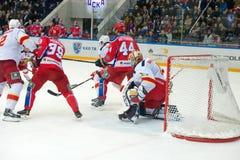 Fighting at Hockey gates Stock Image