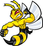 Fighting Hornet vector illustration