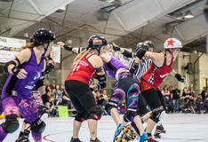 Fighting Through the Jammers Stock Photo
