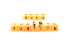 Fighting for justice Royalty Free Stock Image