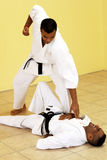 Fighting karate Stock Images