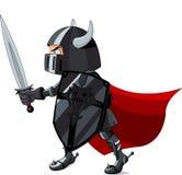 Fighting  Knight. Illustration of black  fighting knight Stock Image
