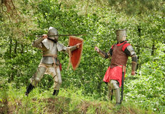 Fighting knights Stock Photo