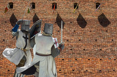 Fighting knights Stock Image
