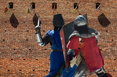 Fighting knights Stock Photo