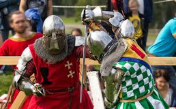 The knights fighting Royalty Free Stock Images