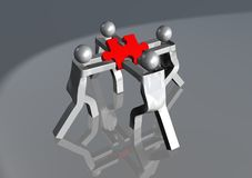 Fighting for the last piece. 3d illustration - fighting for the last piece Royalty Free Stock Images