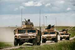 Fighting machine HMMWV Royalty Free Stock Images