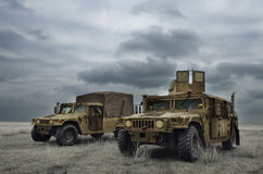 Fighting machine in Romanian military polygon Royalty Free Stock Image