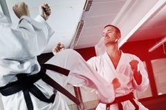 Fighting men Royalty Free Stock Image