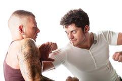 Fighting men Stock Photo
