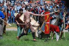 Fighting men. Stock Photo