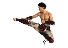 Fighting Monk Stock Photo