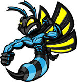 Fighting Ninja Hornet. Fighting Hornet in battle ready position. Separated into layers for easy editing Stock Image