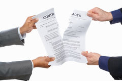 Fighting over contract Stock Images