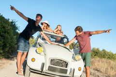 Fighting over directions in vacations Royalty Free Stock Photos