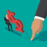 Fighting over money Stock Image