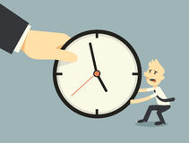 Fighting over time. Businessman fighting over time concept Royalty Free Stock Images