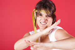 Fighting overweight Royalty Free Stock Photos