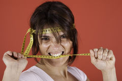 Fighting overweight Stock Photography