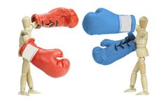 Fighting politicians Stock Image
