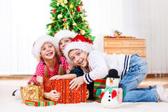 Fighting for presents Royalty Free Stock Photo