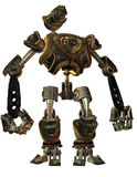 Fighting robots in Steampunk style Royalty Free Stock Photo