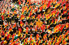 Fighting Rooster Dolls in Shrine Royalty Free Stock Images